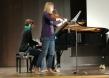 Lara Pluym und Hannes Lehmann spielen Klezmer