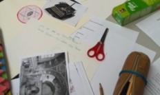 Gestaltungsmaterial auf dem Tisch