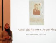 Kaya Dreesbeimdiek referiert über Johann Kling