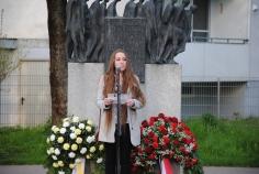 Agco Halmen bei der Gedenkfeier zum Todesmarsch