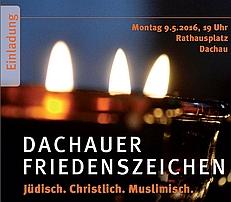 Einladung zum Dachauer Friedenszeichen